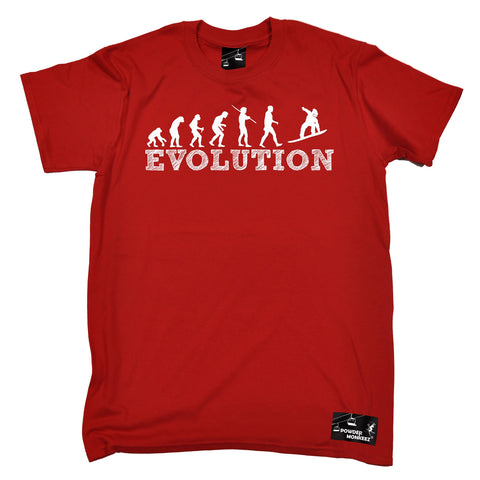 Powder Monkeez Men's Evolution Snowboarding Snowboard T-Shirt