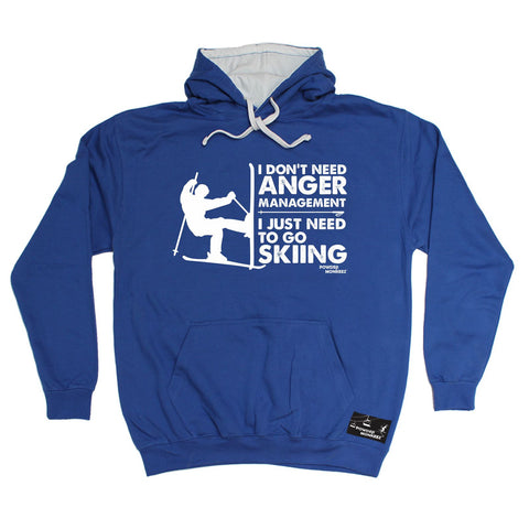 Powder Monkeez I Don't Need Anger Management Skiing Ski Hoodie