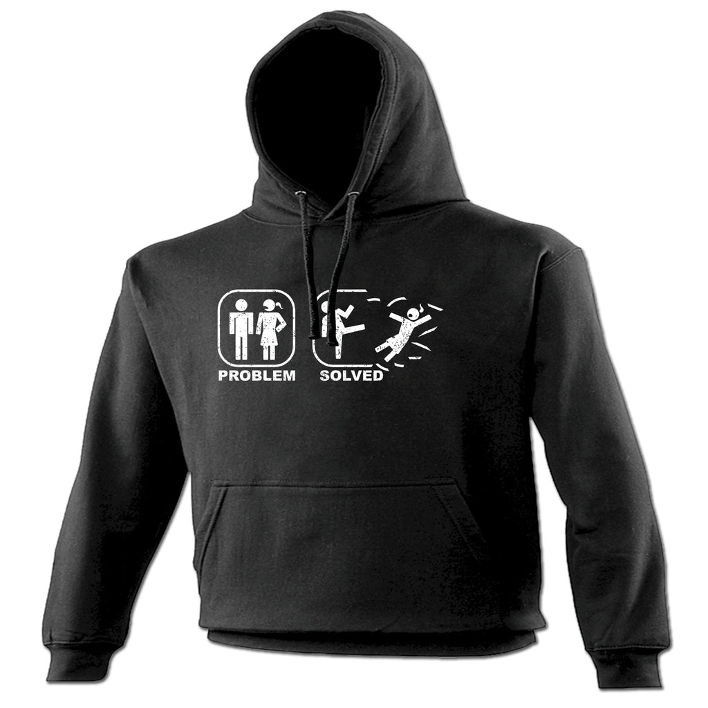 123t Problem Solved Sparta Kick Woman Design Funny Hoodie