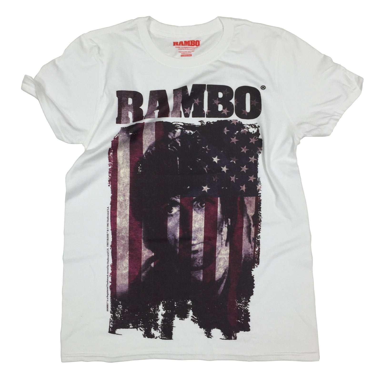 2bcffcc4 Buy Rambo Sylvester Stallone - Official T-SHIRT at 123t T-Shirts ...