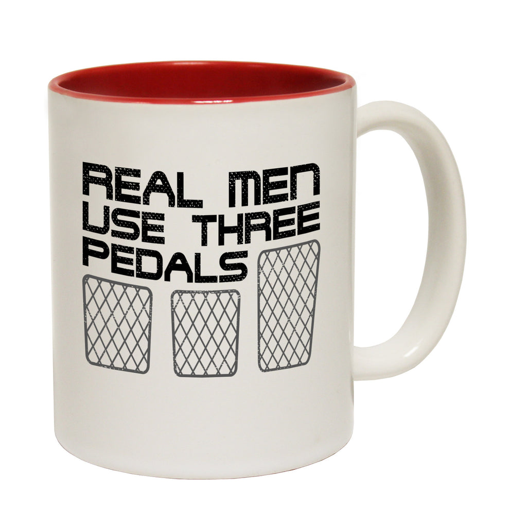 123t Real Men Use Three Pedals Funny Mug
