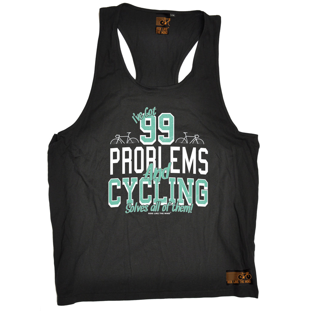 Ride Like The Wind 99 Problems And Cycling Solves All Of Them Men's Tank Top