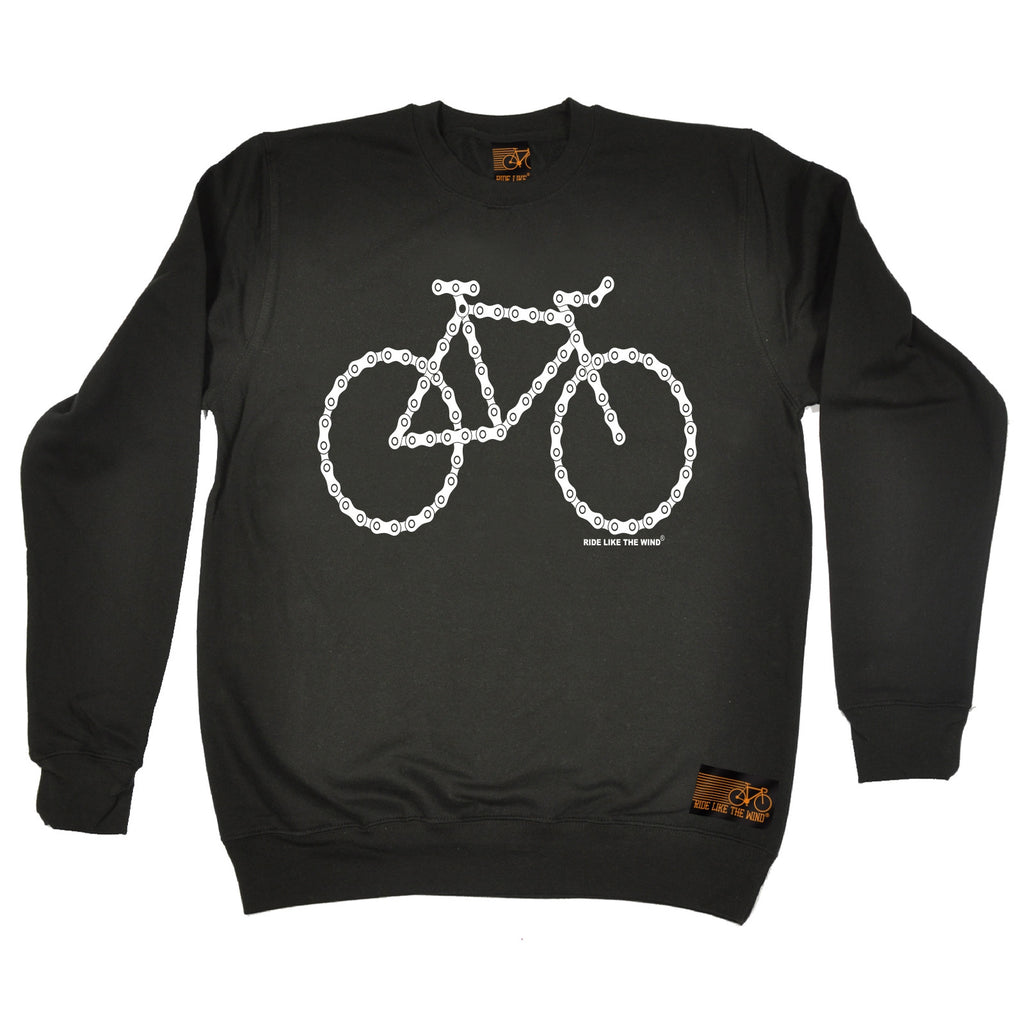 Ride Like The Wind Bike Made Of Chains Cycling Sweatshirt
