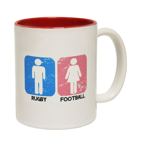 Up And Under Rugby Men ... Football Women Design Funny Rugby Mug