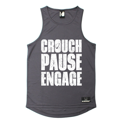 Up And Under Crouch Pause Engage Rugby Men's Training Vest
