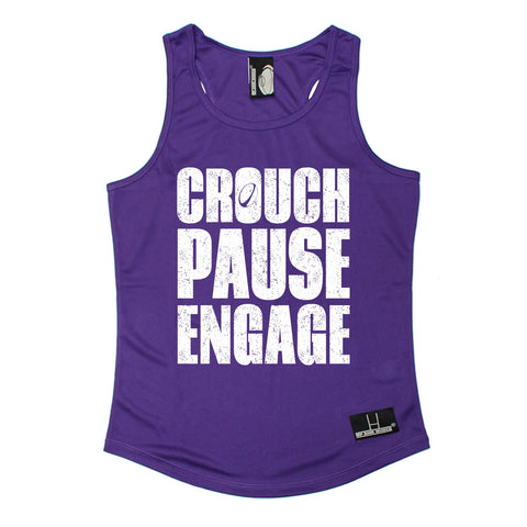 Up And Under Crouch Pause Engage Rugby Girlie Training Vest
