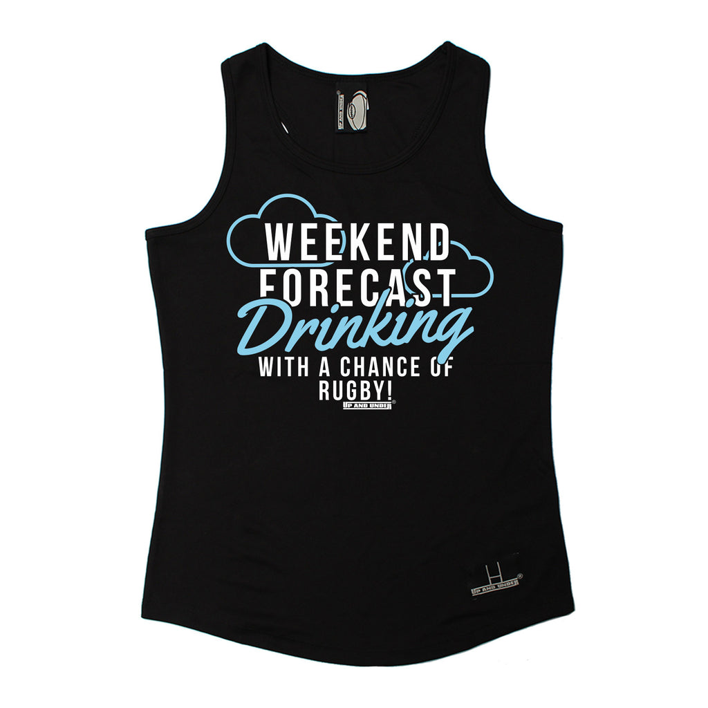 Up And Under Weekend Forecast Drinking With A Chance Of Rugby Girlie Training Vest