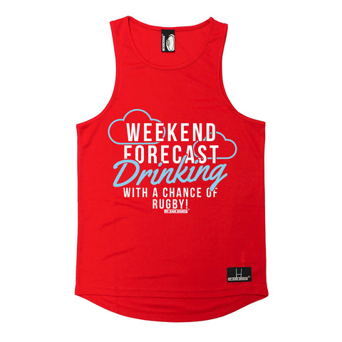 Up And Under Weekend Forecast Drinking With A Chance Of Rugby Men's Training Vest