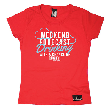 Up And Under Women's Weekend Forecast Drinking With A Chance Of Rugby T-Shirt