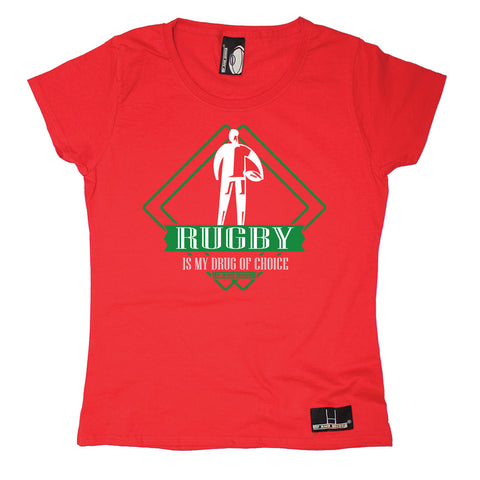 Up And Under Women's Rugby Is My Drug Of Choice T-Shirt