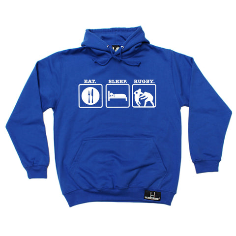Up And Under Eat Sleep Rugby Hoodie