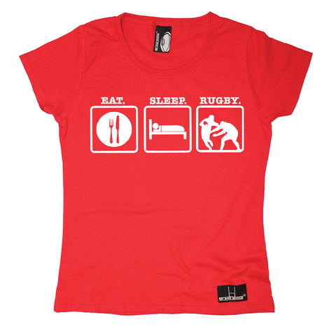 Up And Under Women's Eat Sleep Rugby T-Shirt
