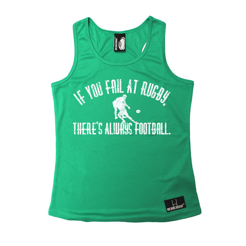 Up And Under If You Fail At Rugby There's Always Football Girlie Training Vest