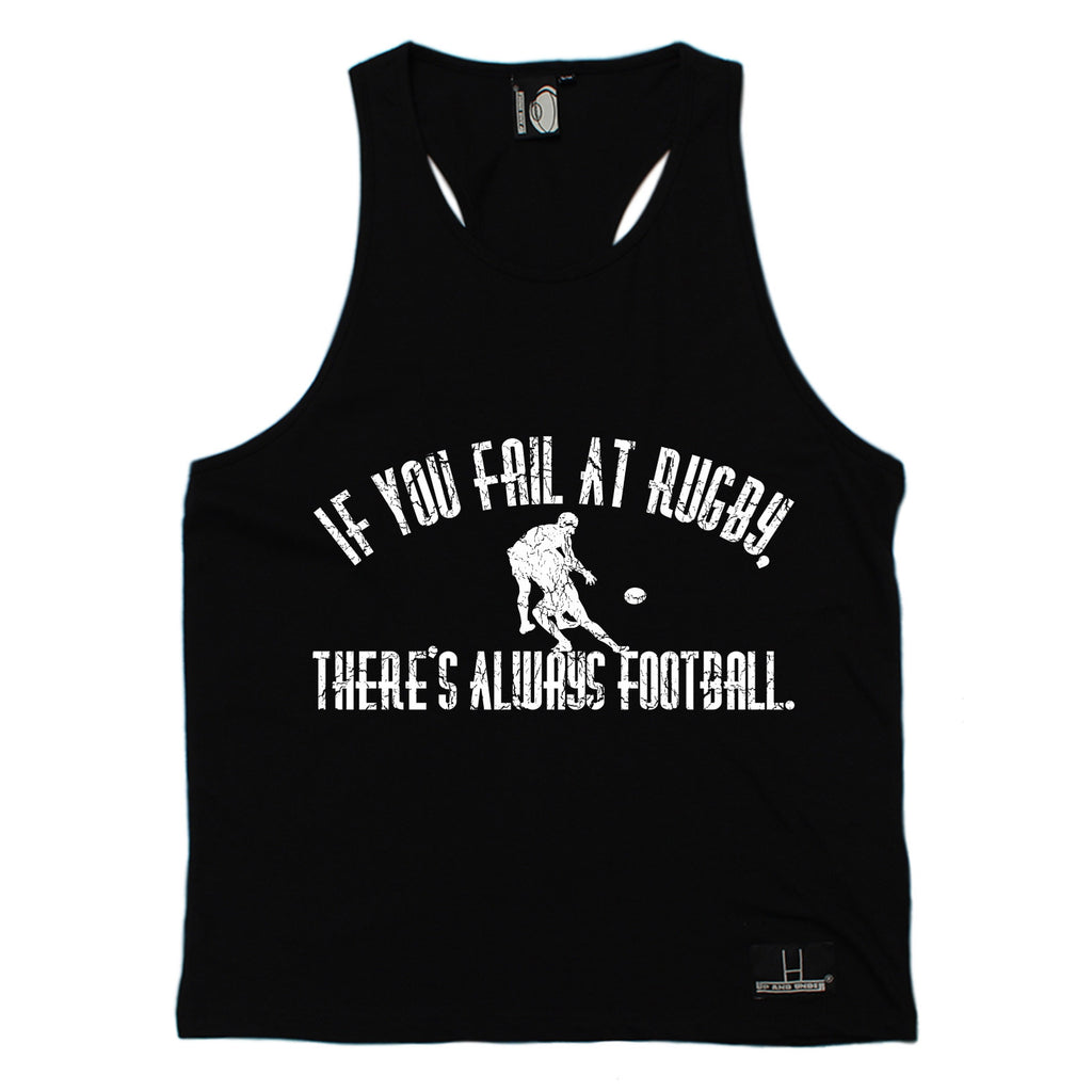 Up And Under If You Fail At Rugby There's Always Football Men's Tank Top