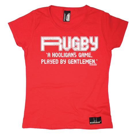 Up And Under Women's A Hooligan's Game Played By Gentlemen Rugby T-Shirt