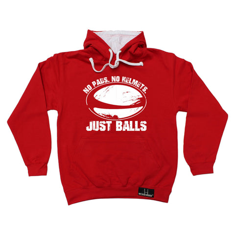 Up And Under No Pads No Helmets Just Balls Hoodie