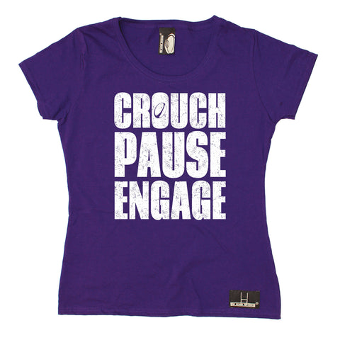 Up And Under Women's Crouch Pause Engage Rugby T-Shirt