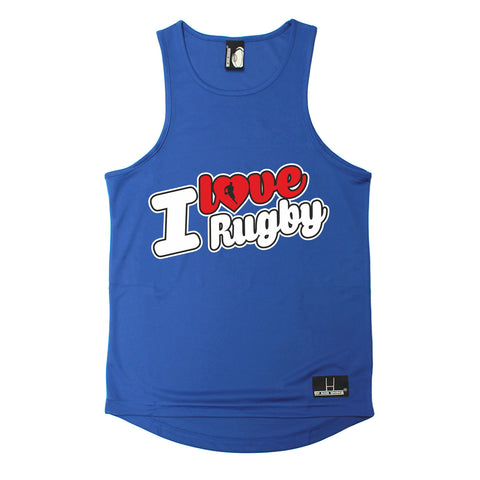 Up And Under I Love Rugby Men's Training Vest