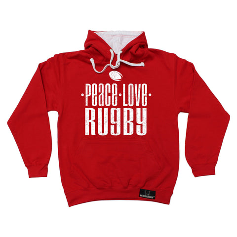 Up And Under Peace Love Rugby Hoodie