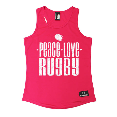 Up And Under Peace Love Rugby Girlie Training Vest