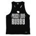 Up And Under Peace Love Rugby Men's Tank Top