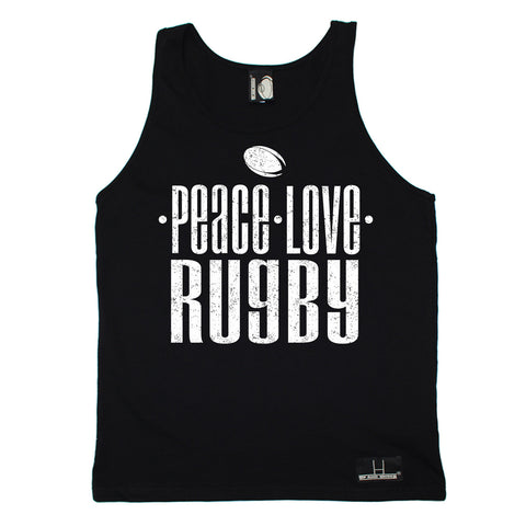 Up And Under Peace Love Rugby Vest Top