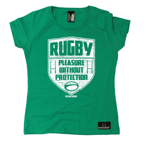 Up And Under Women's Rugby Pleasure Without Protection T-Shirt