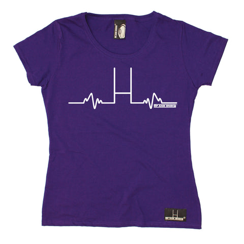 Up And Under Women's Rugby Goal Posts Pulse T-Shirt