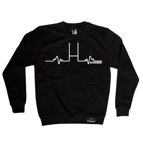 Up And Under Rugby Goal Posts Pulse Sweatshirt