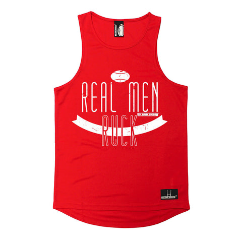 Up And Under Real Men Ruck Rugby Men's Training Vest