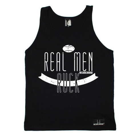 Up And Under Real Men Ruck Rugby Vest Top