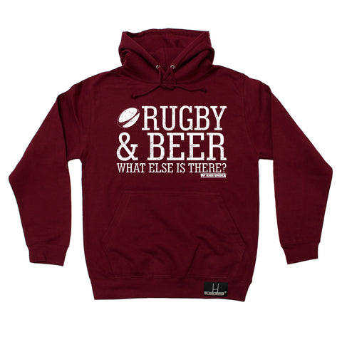 Up And Under Rugby & Beer What Else Is There Hoodie