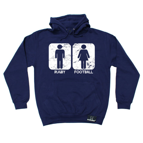 Up And Under Rugby Vs Football Hoodie