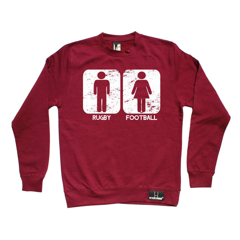 Up And Under Rugby Vs Football Sweatshirt