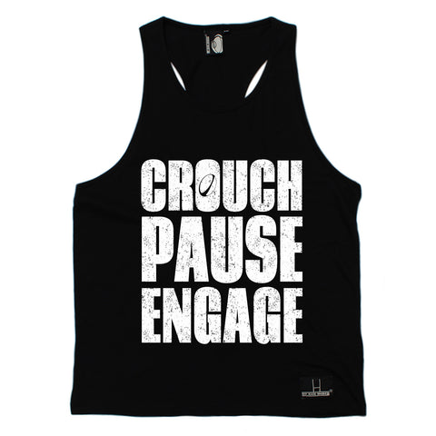Up And Under Crouch Pause Engage Rugby Men's Tank Top