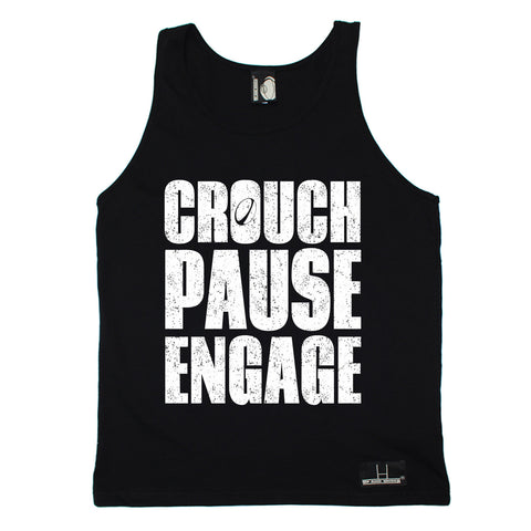 Up And Under Crouch Pause Engage Rugby Vest Top