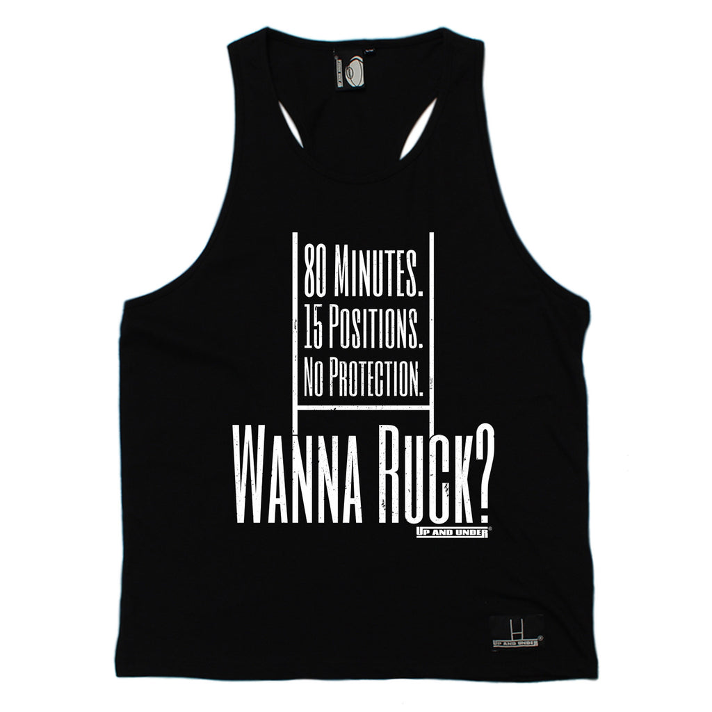 Up And Under Wanna Ruck ? Rugby Men's Tank Top