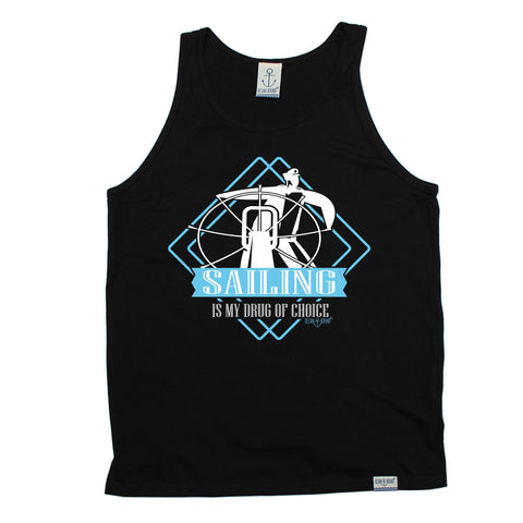 Ocean Bound Sailing Is My Drug Of Choice Vest Top