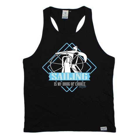 Ocean Bound Sailing Is My Drug Of Choice Men's Tank Top