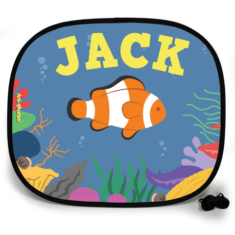 Ani-Mates Under The Sea Clown Fish Personalised UV Protection Fun Vehicle Interior Window Car Sunshade