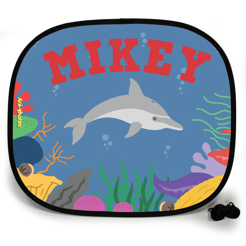 Ani-Mates Under The Sea Dolphin Personalised UV Protection Car Sunshade