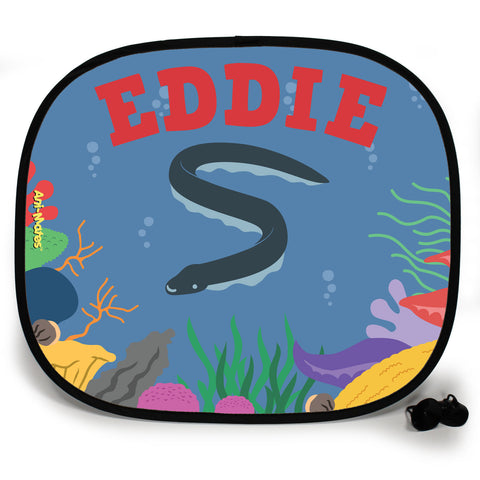 Ani-Mates Under The Sea Eel Personalised UV Protection Fun Vehicle Interior Window Car Sunshade