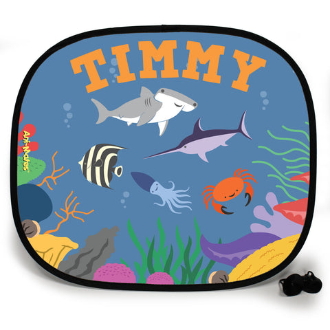 Ani-Mates Under The Sea Hammerhead Party Personalised UV Protection Car Sunshade