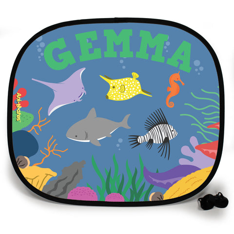 Ani-Mates Under The Sea Lion Fish Party Personalised UV Protection Car Sunshade