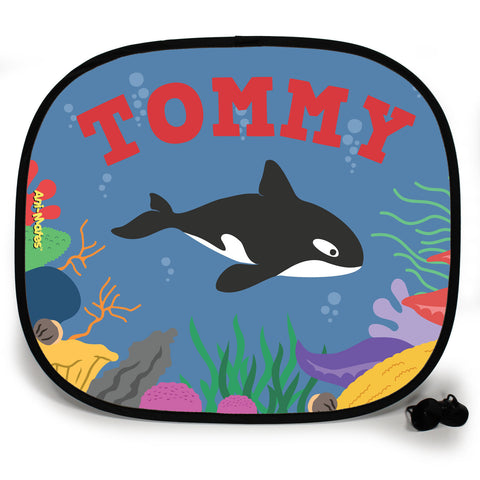 Ani-Mates Under The Sea Killer Whale Personalised UV Protection Fun Vehicle Interior Window Car Sunshade