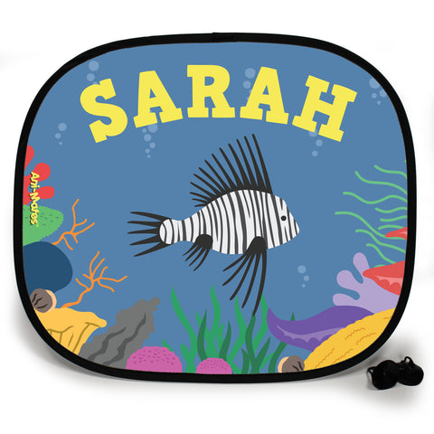 Ani-Mates Under The Sea Lion Fish Personalised UV Protection Car Sunshade