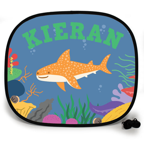 Ani-Mates Under The Sea Animals Whale Shark Personalised UV Protection Car Sunshade