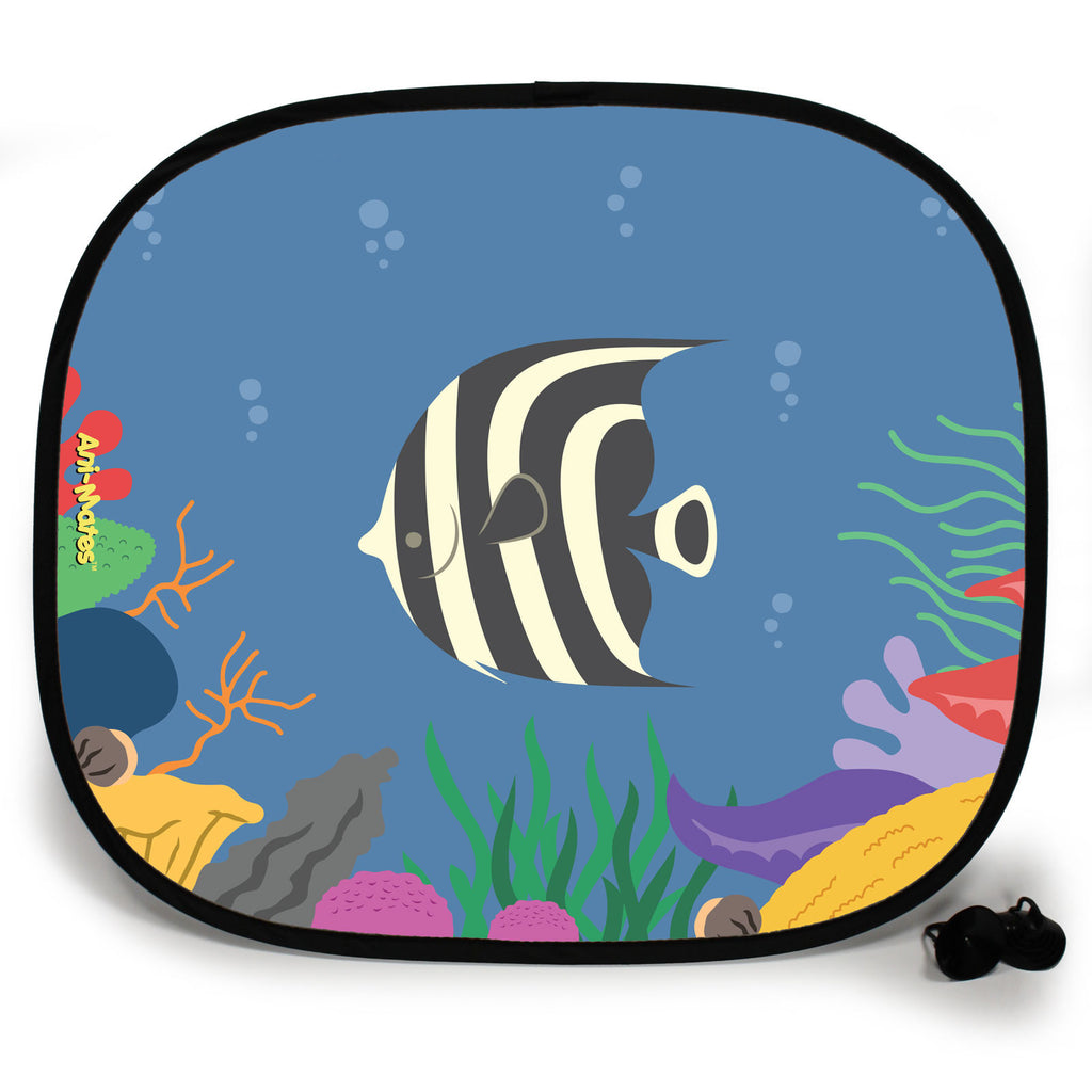 Ani-Mates Under The Sea Sea Angel Personalised UV Protection Fun Vehicle Interior Window Car Sunshade