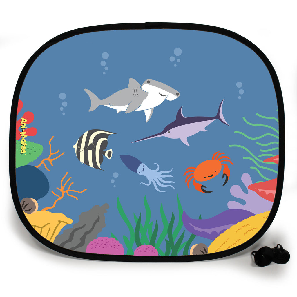 Ani-Mates Under The Sea Hammerhead Party Personalised UV Protection Fun Vehicle Interior Window Car Sunshade