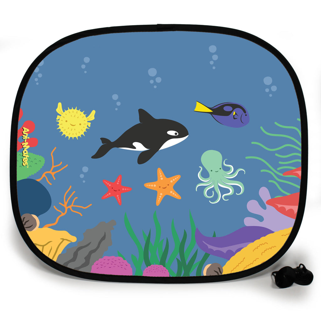 Ani-Mates Under The Sea Killer Whale Party Personalised UV Protection Fun Vehicle Interior Window Car Sunshade
